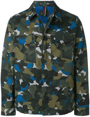 Paul Smith camouflage print shirt jacket