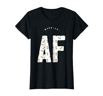 Womens Married AF Tshirt Gift for Women Floreal Design