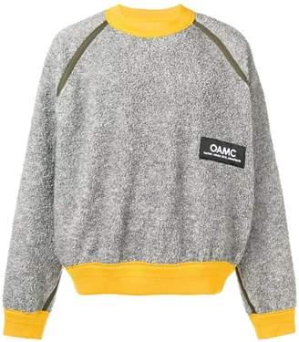 Oamc oversized contrast logo sweater