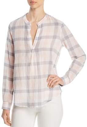Three Dots Plaid Gauze Shirt