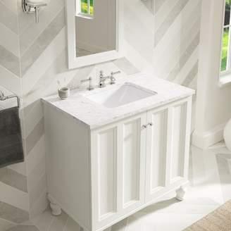 Kohler Caxton Ceramic Rectangular Undermount Bathroom Sink with Overflow