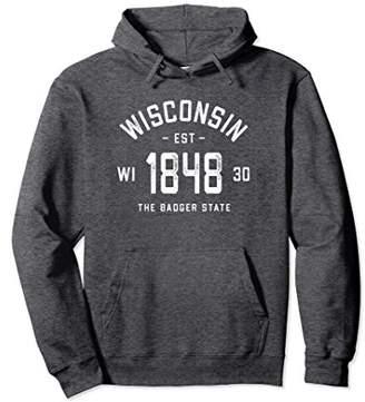 Retro Vintage Wisconsin Sweatshirt Pullover Hoodie 1848 WI