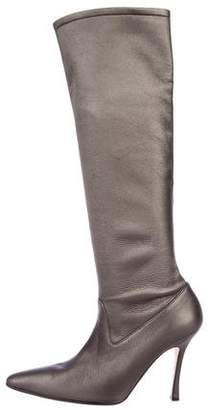 Manolo Blahnik Leather Knee-High Boots