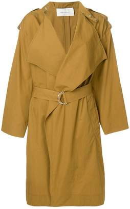 Cédric Charlier wide lapel trench coat