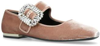 Roger Vivier Mary Jane Strass Buckle Flats