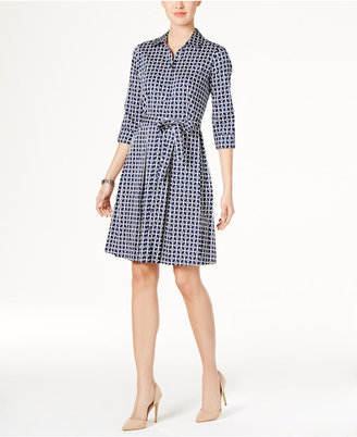 Charter Club Cotton Roll-Tab Printed Shirtdress, Only at Macy's $109.50 thestylecure.com