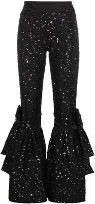 Ashish Flared Hem Bow Detail Trousers