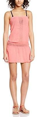 Bananamoon Banana Moon Women's Bustier Plain or unicolor Short sleeve Dress - Pink