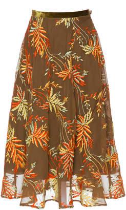 Lena Hoschek Paradise Chiffon Midi Skirt