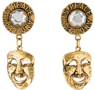 MoschinoMoschino Comedy Mask Clip-On Earrings