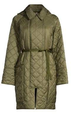 Burberry Coleraine Oversized Belted Quilted Coat