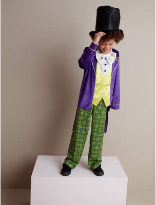 George Roald Dahl Willy Wonka Fancy Dress Costume