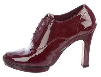 Repetto Patent Leather Lace-Up Booties