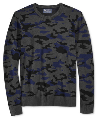 American Rag Men's Camo-Print Sweater, Only at Macy's $40 thestylecure.com