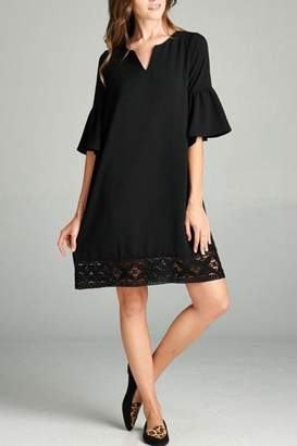 The Dressing Room Lace Trim Dress