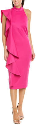 Issue New York Solid Off The Shoulder Midi Dress