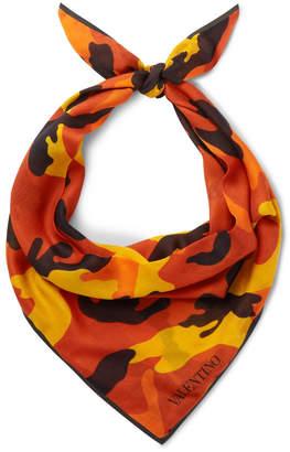Valentino Camouflage-Print Modal and Cashmere-Blend Bandana
