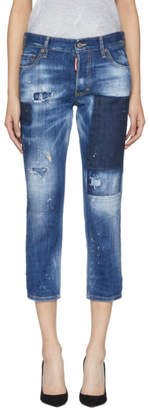 DSQUARED2 Blue Boyfriend Jeans