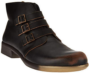 Naot Footwear Leather Ankle Boots with Buckle Detail -Calima