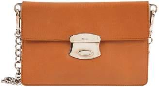 Prada Brown Leather Clutch Bag
