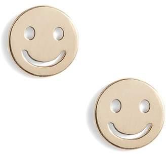 Poppy Finch Smiley Face Stud Earrings