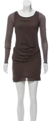 Elizabeth and James Long Sleeve Silk Mini Dress