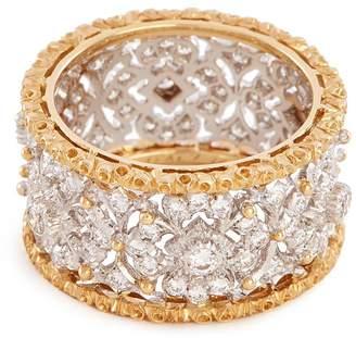 Buccellati 'Opera' diamond gold ring