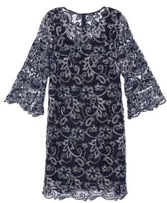 Marina Bell Sleeve Lace Shift Dress