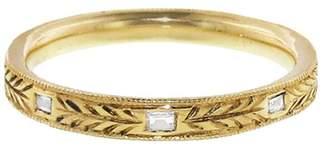 Lori McLean Hand Engraved Baguette Diamond Band Ring