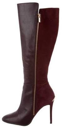 MICHAEL Michael Kors Suede & Leather Knee-High Boots
