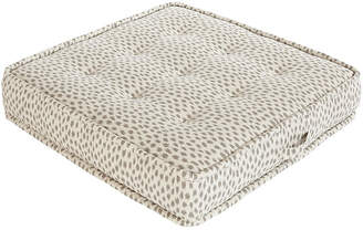 Lane Venture/Okl Tufted Floor Cushion - Gray Cheetah Sunbrella - LANE VENTURE/OKL