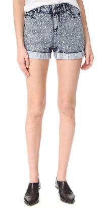 alice + olivia Kenda Studded High Waisted Shorts $330 thestylecure.com
