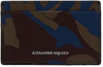 Alexander McQueen Camo Card Holder