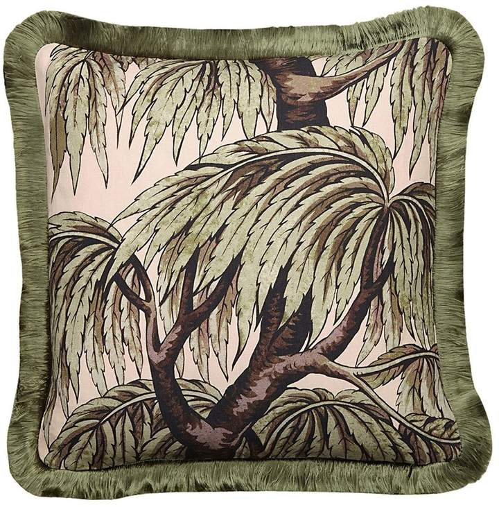 Babylon Blush Willow Fringed Pillow
