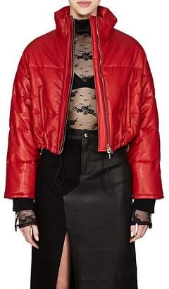 Amiri Women's Leather Crop Puffer Jacket