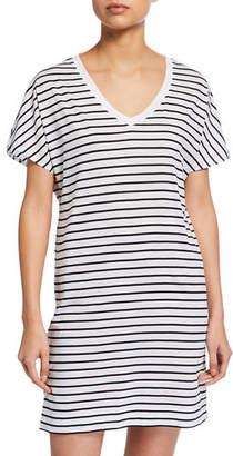 Hanro Laura Short-Sleeve Sleepshirt
