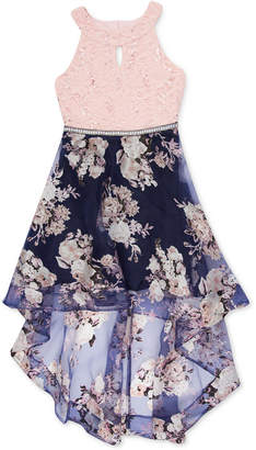 884780a9bea Speechless Big Girls Floral   Lace High-Low Party Dress