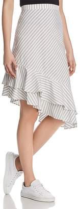 Joie Yenene Striped Flounce-Hem Skirt