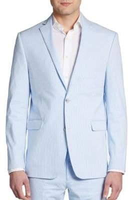 Saks Fifth Avenue RED Trim-Fit Seersucker Sportcoat