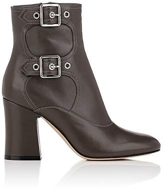 Gianvito Rossi Women's Double-Buckle Leather Ankle Boots