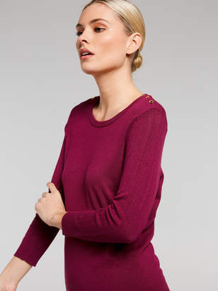 Portmans Australia Pointelle Sleeve Knit