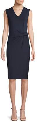 Catherine Malandrino Women's V-Neck Jersey Knee-Length Dress
