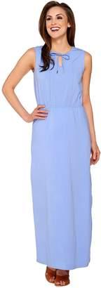 Isaac Mizrahi Live! Petite Split V-neck Knit Maxi Dress