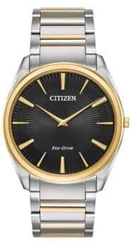 Citizen Stiletto Two-Tone Stainless Steel Link Bracelet Watch