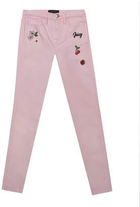 Juicy Couture Fruit Embroidered Skinny Jean for Girls