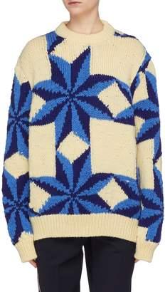 Calvin Klein Star intarsia wool sweater