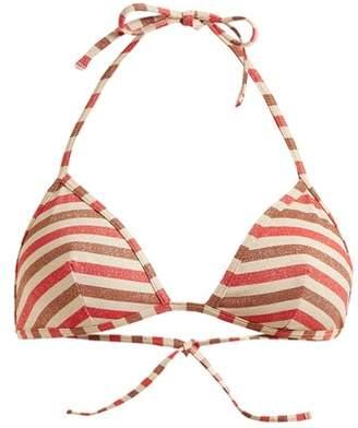 Solid & Striped The Wendy Striped Bikini Top - Womens - Multi Stripe