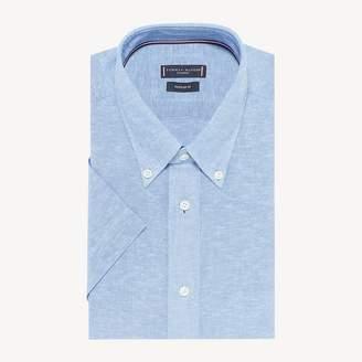 Short Sleeve Button-Down Collar Shirt