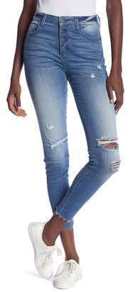 Fly London Hidden Jeans Button High Rise Skinny Jeans