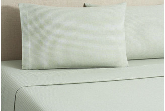 Belle Epoque Flannel Gingham Sheet Set - Sage